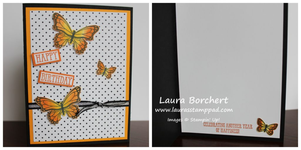 Orange Butterflies, www.LaurasStampPad.com