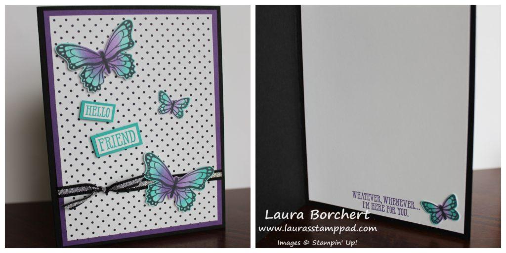 Purple Butterflies, www.LaurasStampPad.com
