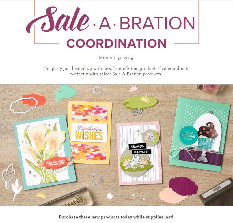 Sale-A-Bration Update, www.LaurasStampPad.com