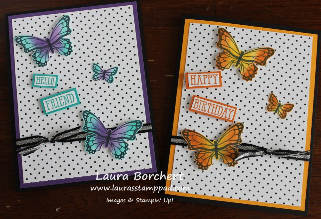 Sponging Butterflies, www.LaurasStampPad.com