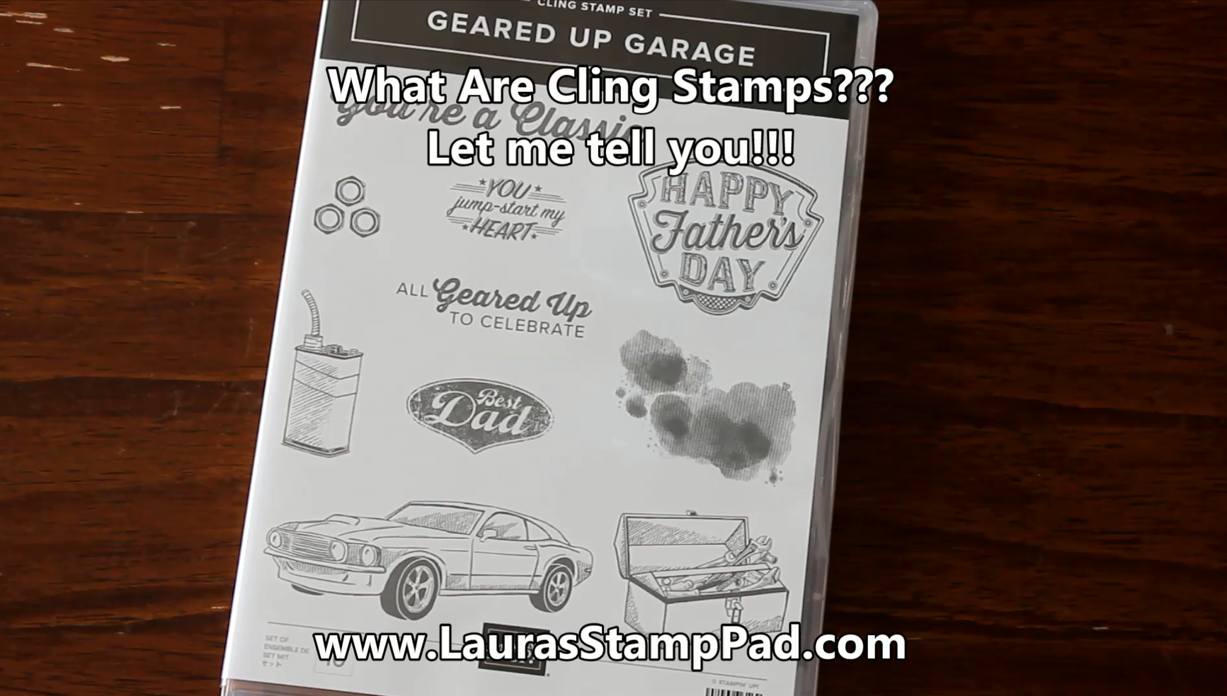 What are cling stamps, www.LaurasStampPad.com