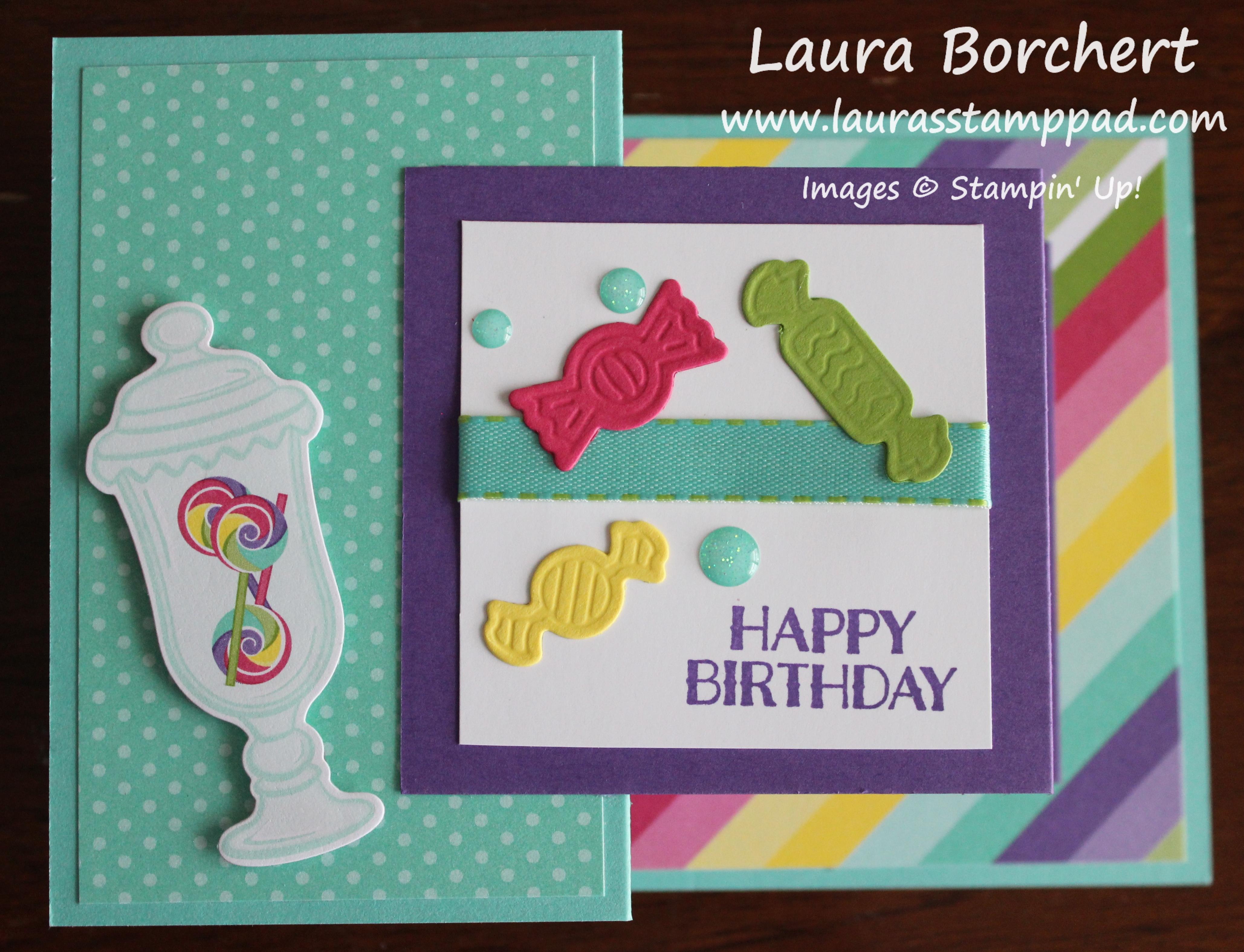 Birthday Z Fold Card, www.LaurasStampPad.com