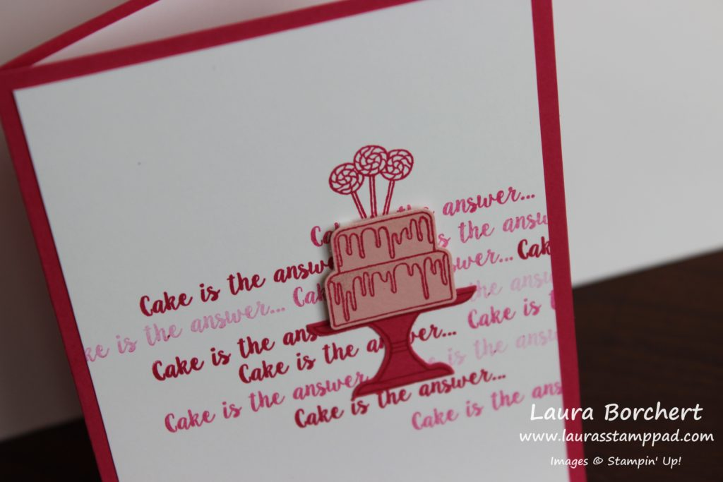 Wink of Stella Cake, www.LaurasStampPad.com