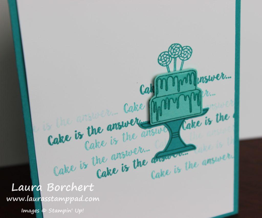 Masculine Birthday Cake Card, www.LaurasStampPad.com