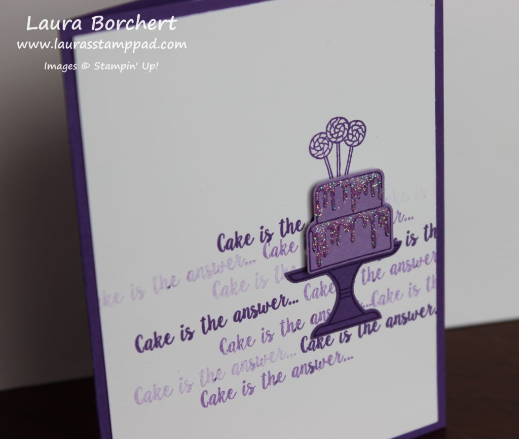 Purple Birthday Card, www.LaurasStampPad.com