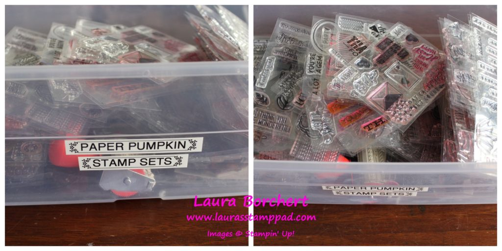 Shoe Box Stamp Set Storage, www.LaurasStampPad.com