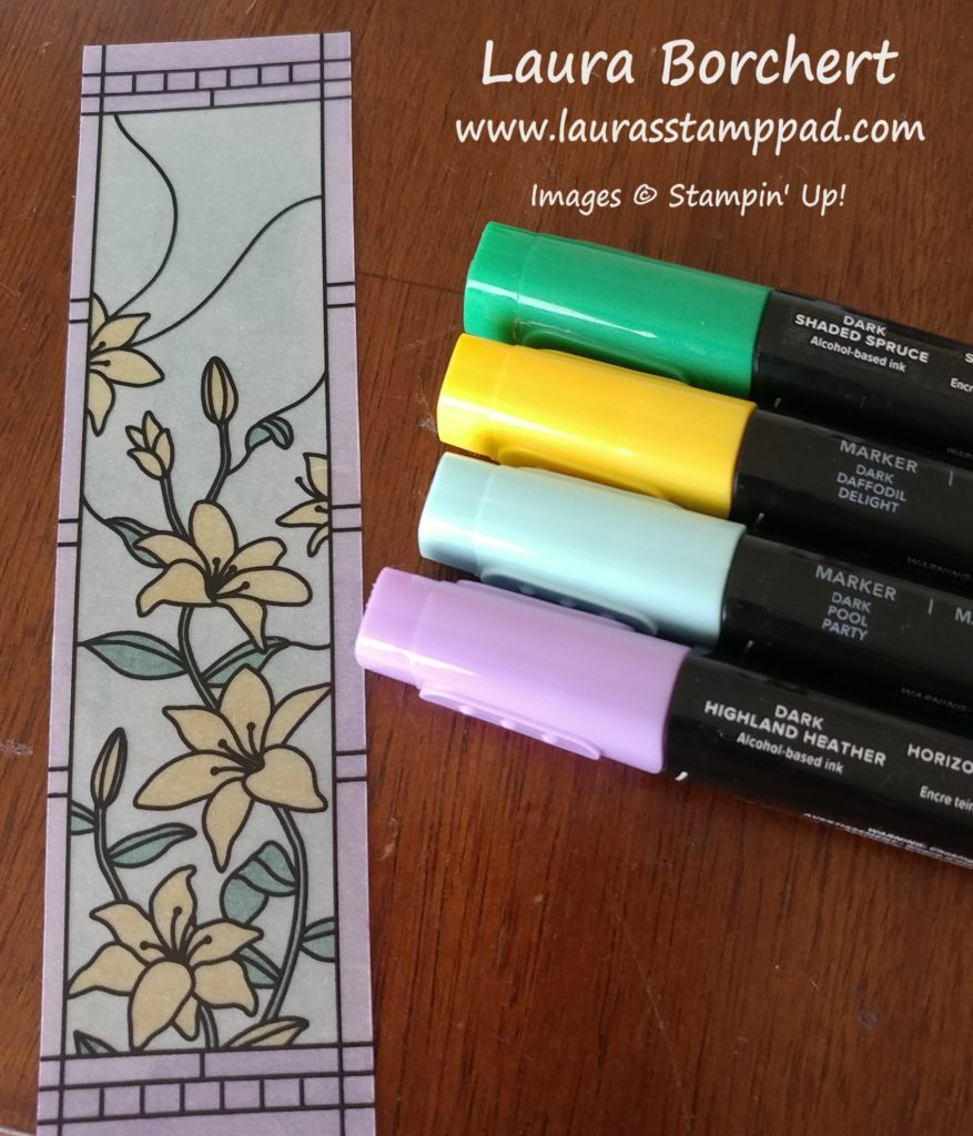 Coloring Vellum With Stampin' Blends, www.LaurasStampPad.com