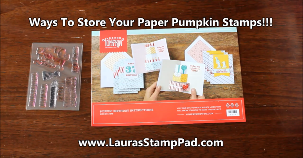 Ways to Store Your Paper Pumpkin Stamps, www.LaurasStampPad.com