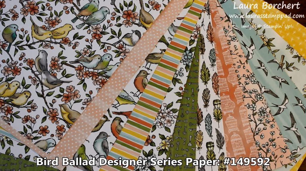 Bird Ballad Designer Series Paper, www.LaurasStampPad.com
