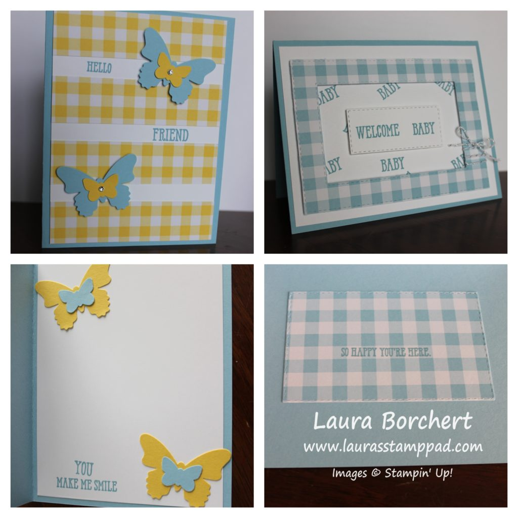 Blue & Yellow Gingham, www.LaurasStampPad.com