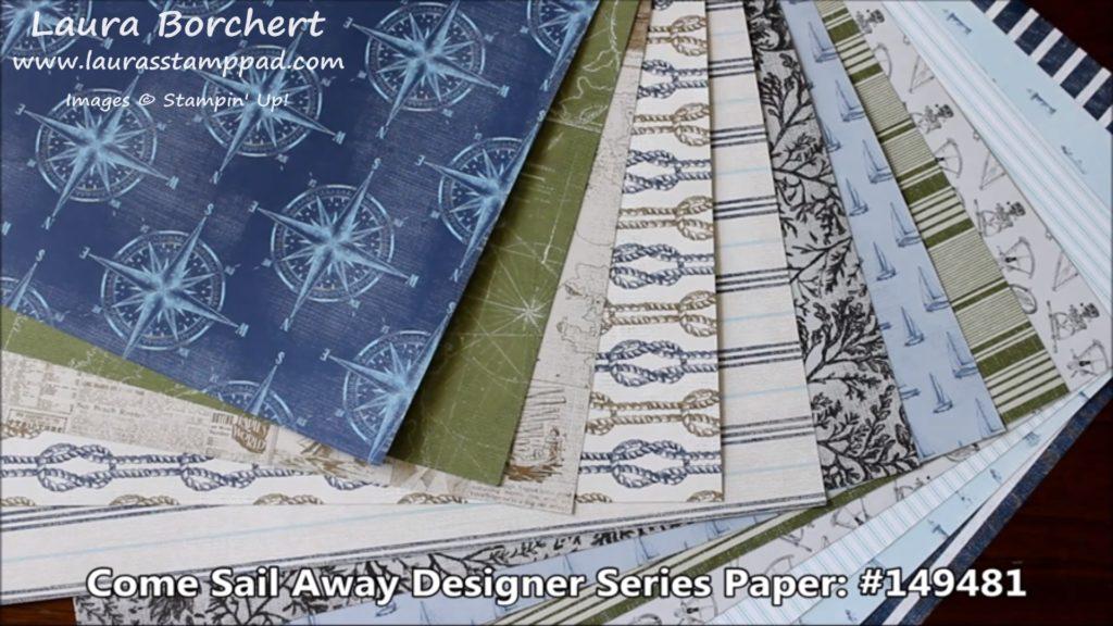 Come Sail Away Designer Paper, www.LaurasStampPad.com