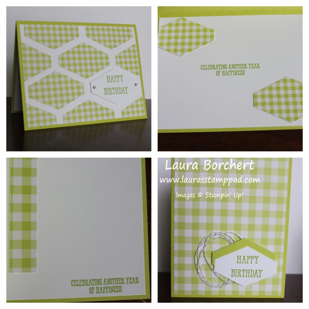 Lemon Lime Twist Gingham, www.LaurasStampPad.com