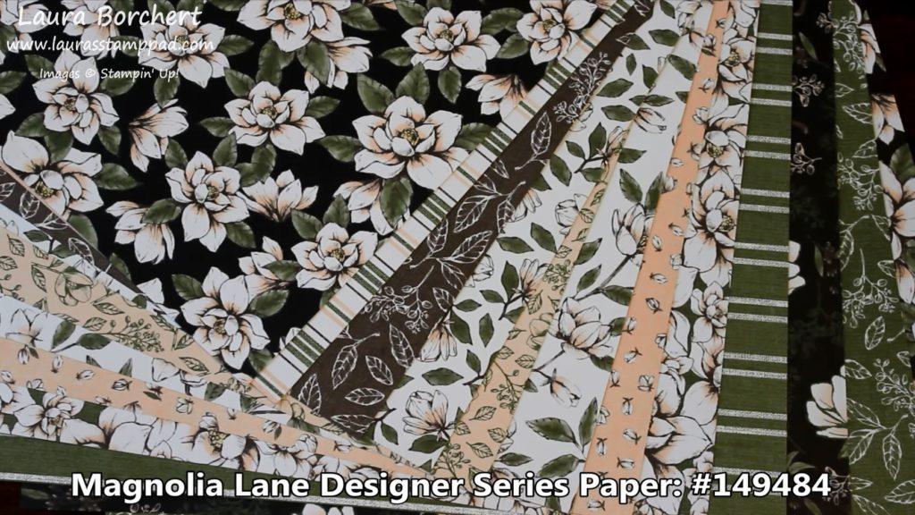 Magnolia Lane Designer Series Paper, www.LaurasStampPad.com