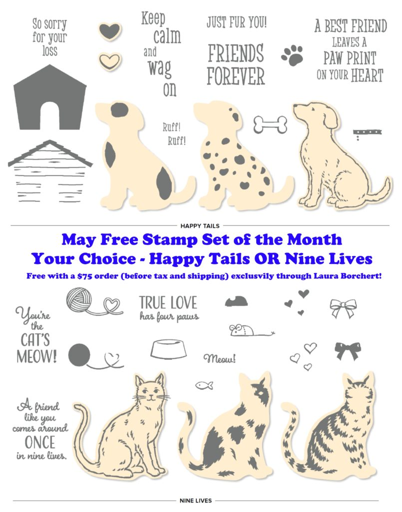 May 2019 Free Stamp Set of the Month, www.LaurasStampPad.com