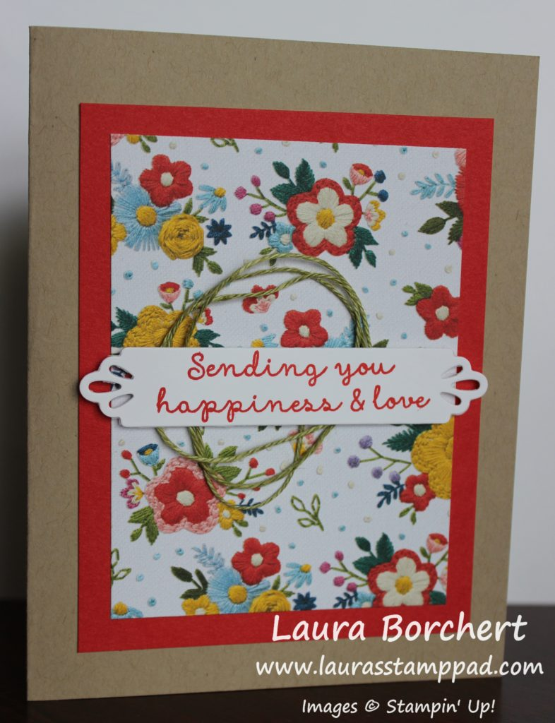 Sending Happiness & Love, www.LaurasStampPad.com