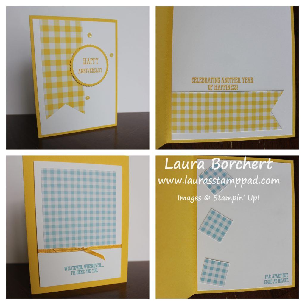 Yellow Gingham, www.LaurasStampPad.com