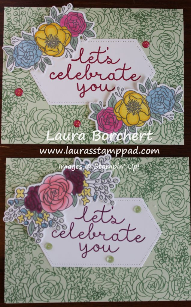Color Options for coloring flowers, www.LaurasStampPad.com