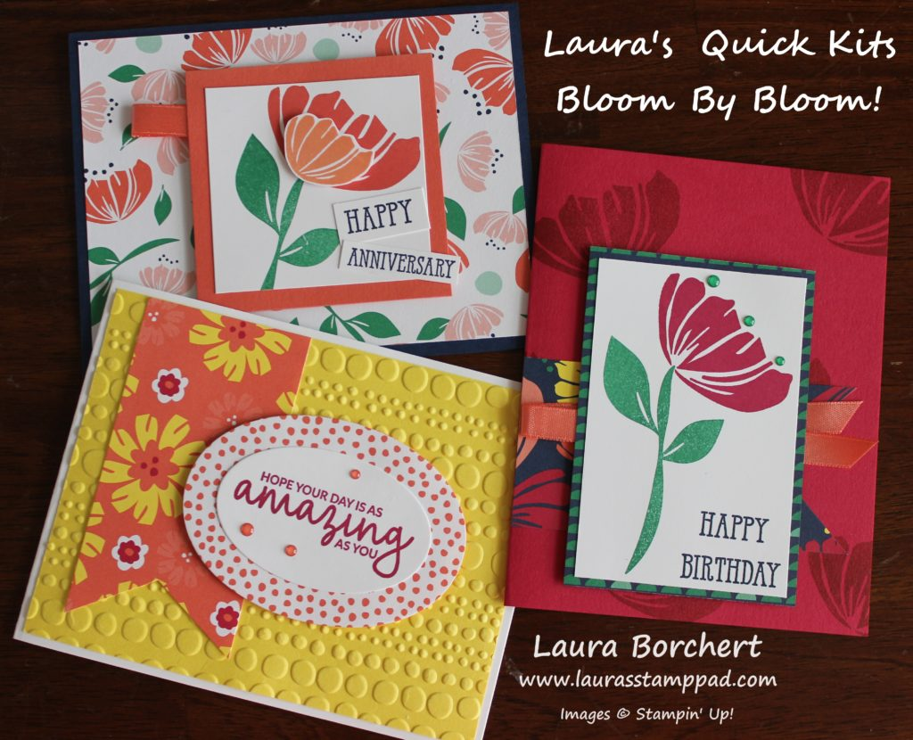 Laura's Quick Kits Bloom By Bloom, www.LaurasStampPad.com