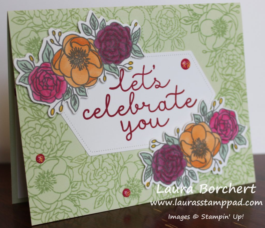 Let's celebrate you, www.LaurasStampPad.com