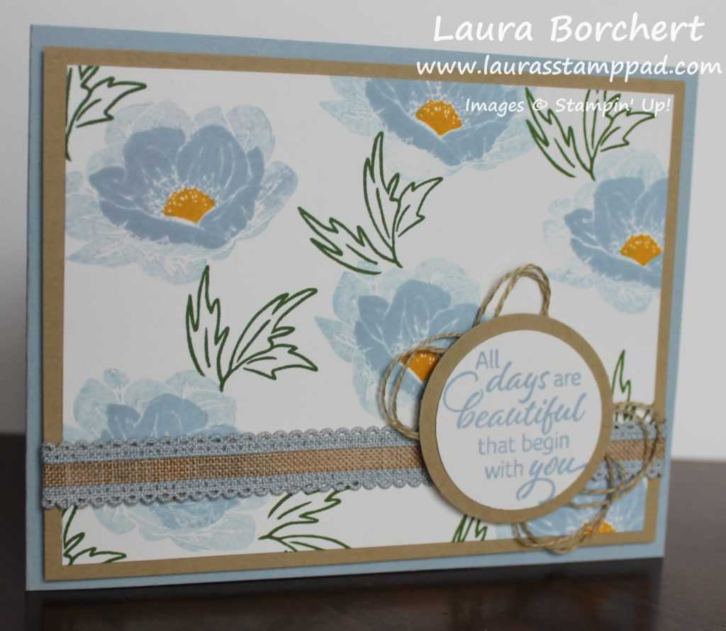 Stamping Layered Flowers, www.LaurasStampPad.com