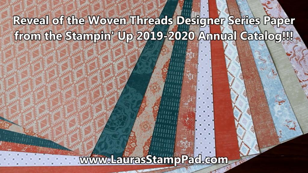 Woven Threads Designer Paper, www.LaurasStampPad.com