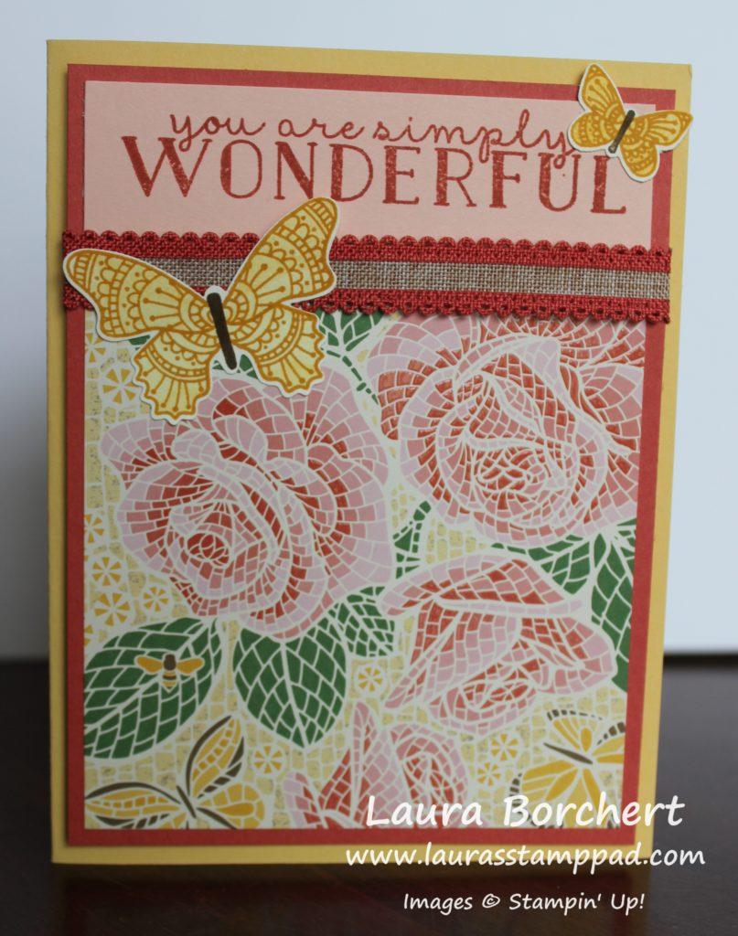 Mosaic Butterflies too, www.LaurasStampPad.com