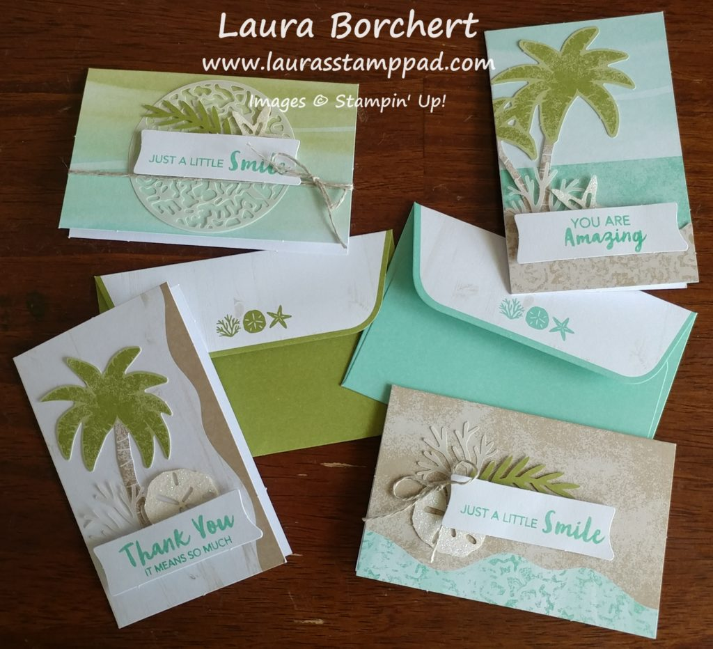 Beach Themed Cards, www.LaurasStampPad.com