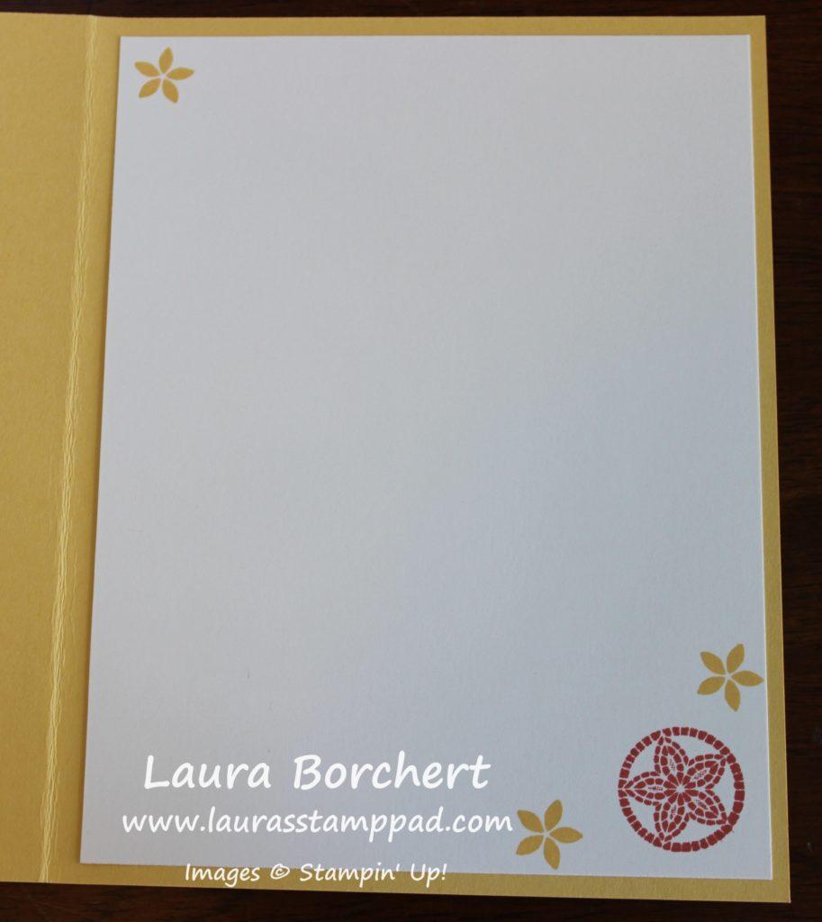 Mosaic Card Insert, www.LaurasStampPad.com