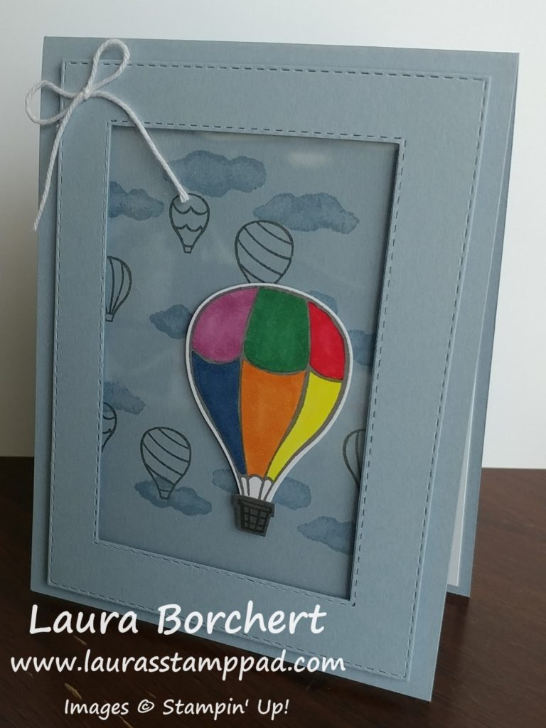 Floating Hot Air Balloon Card, www.LaurasStampPad.com