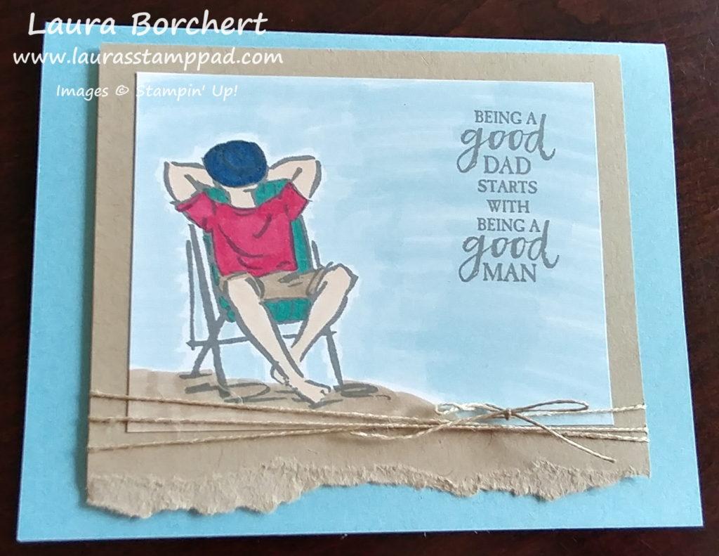 A Good Man, www.LaurasStampPad.com