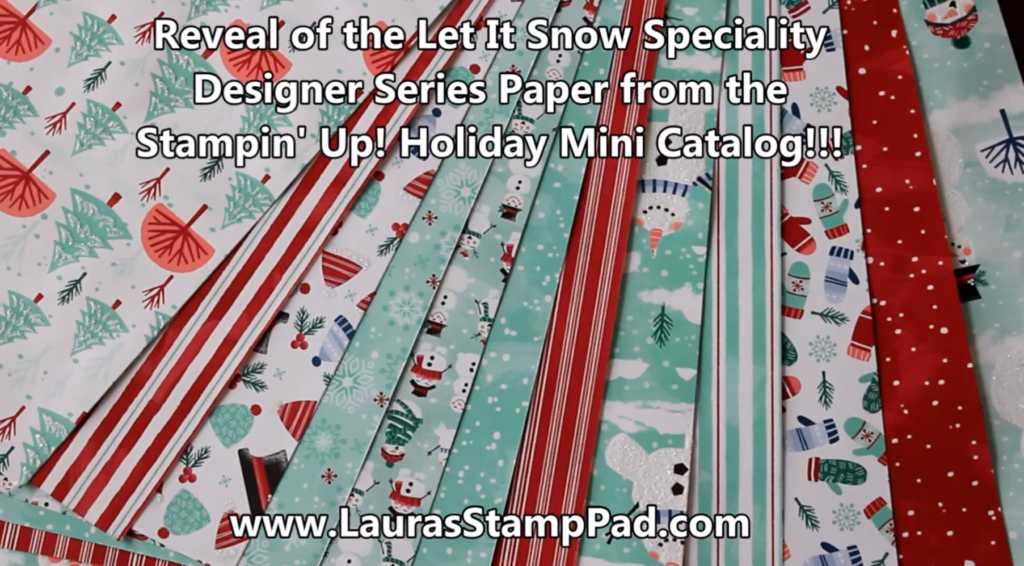 Let It Snow, www.LaurasStampPad.com