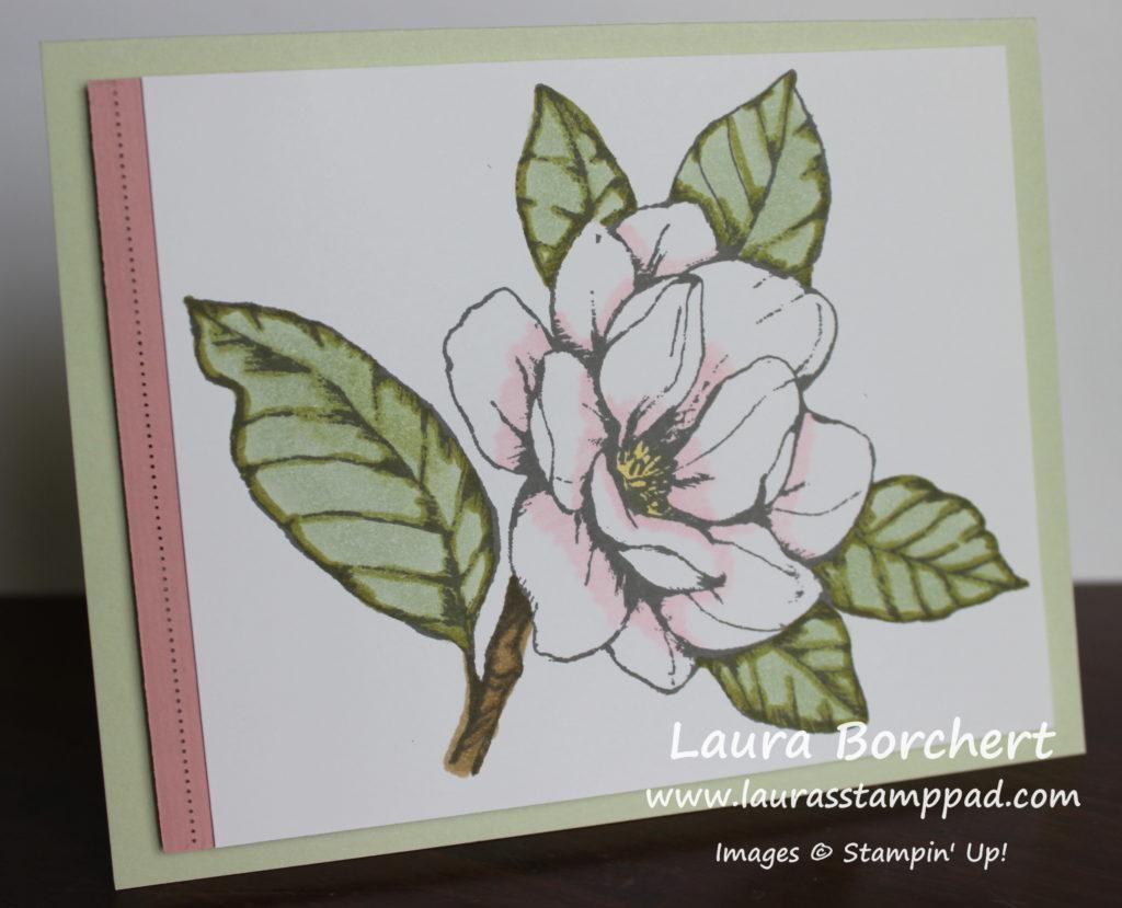 Magnificent Magnolia, www.LaurasStampPad.com