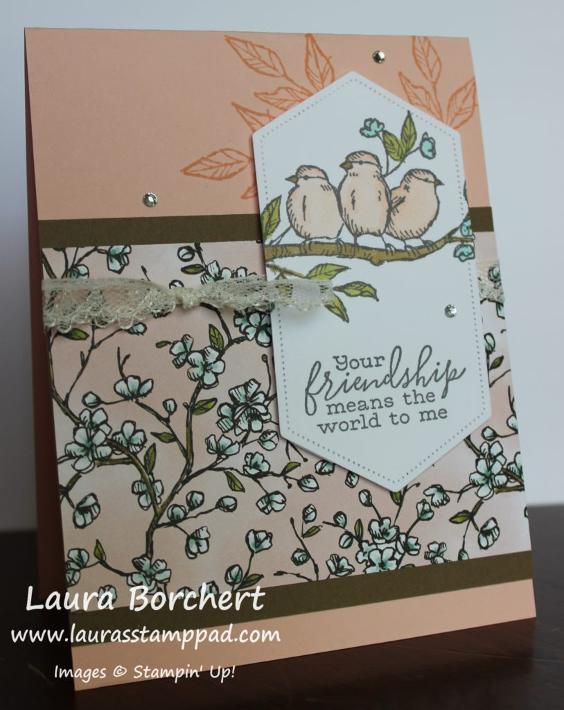 Pale Pink Birdies, www.LaurasStampPad.com