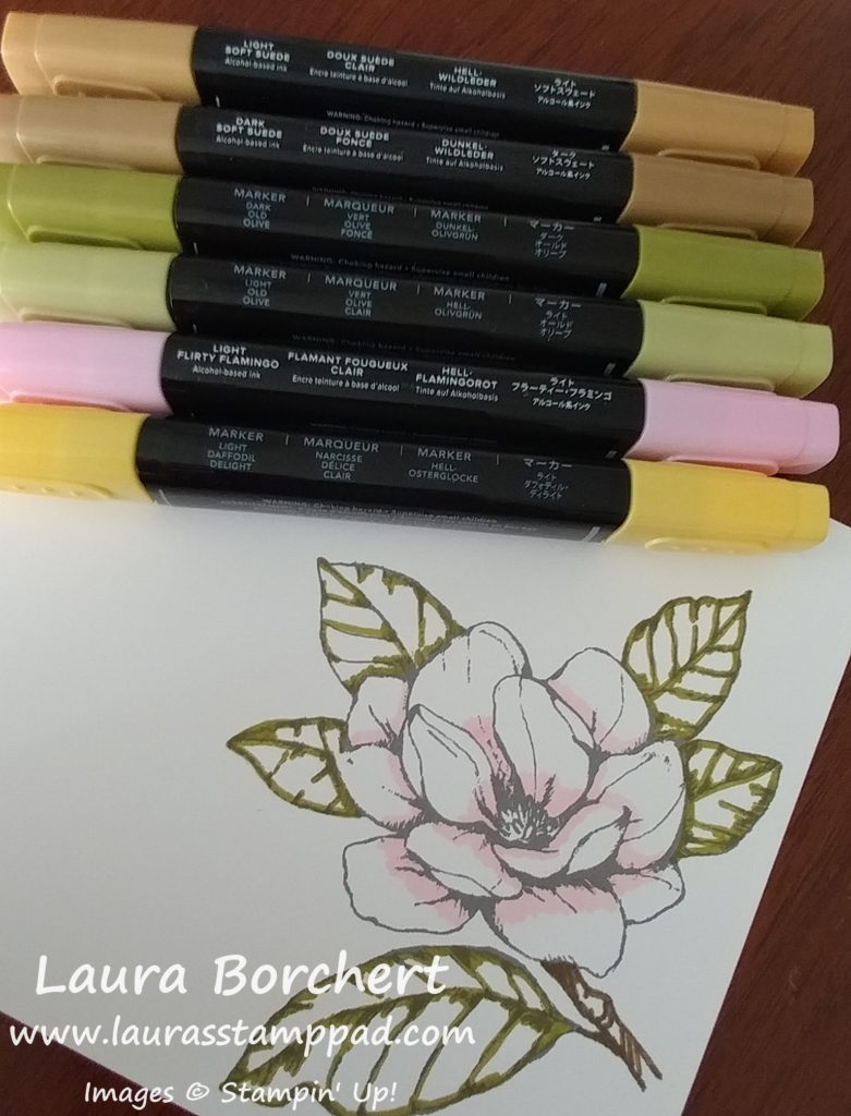 Stampin' Blends Colors, www.LaurasStampPad.com