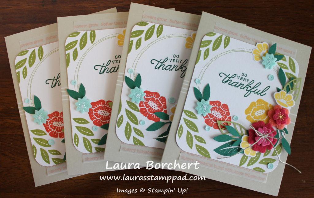 Felt Flowers, www.LaurasStampPad.com