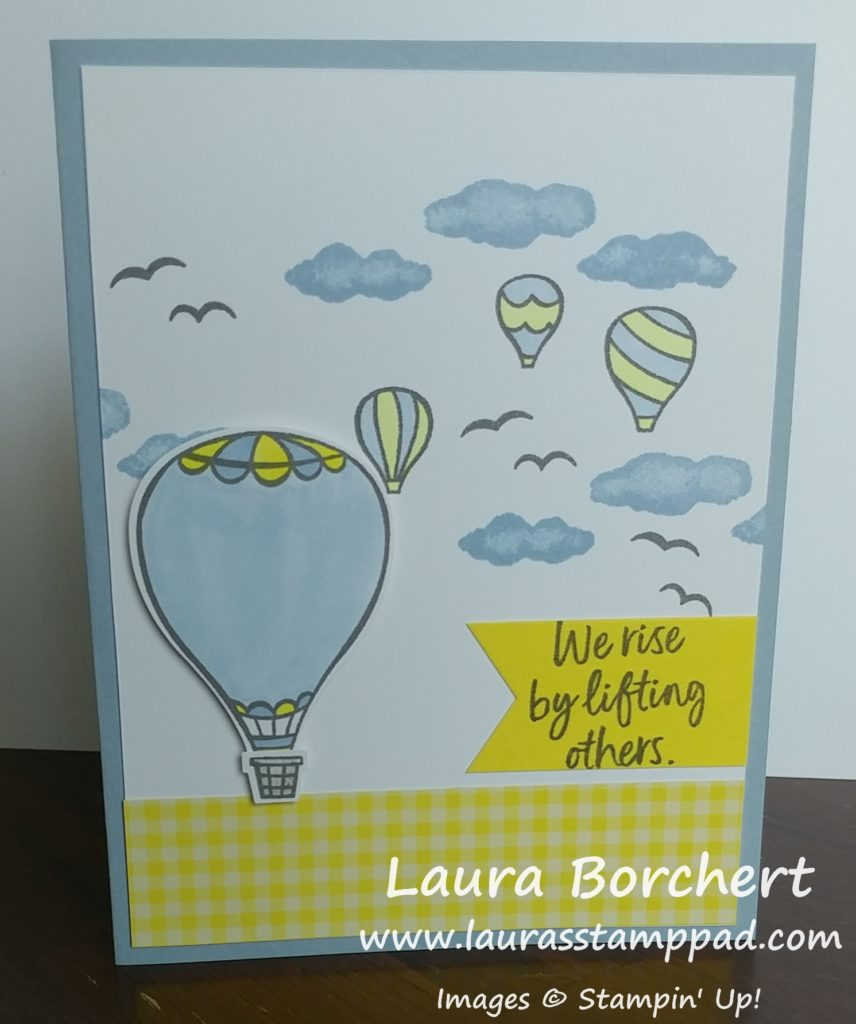 We rise by lifting others, www.LaurasStampPad.com