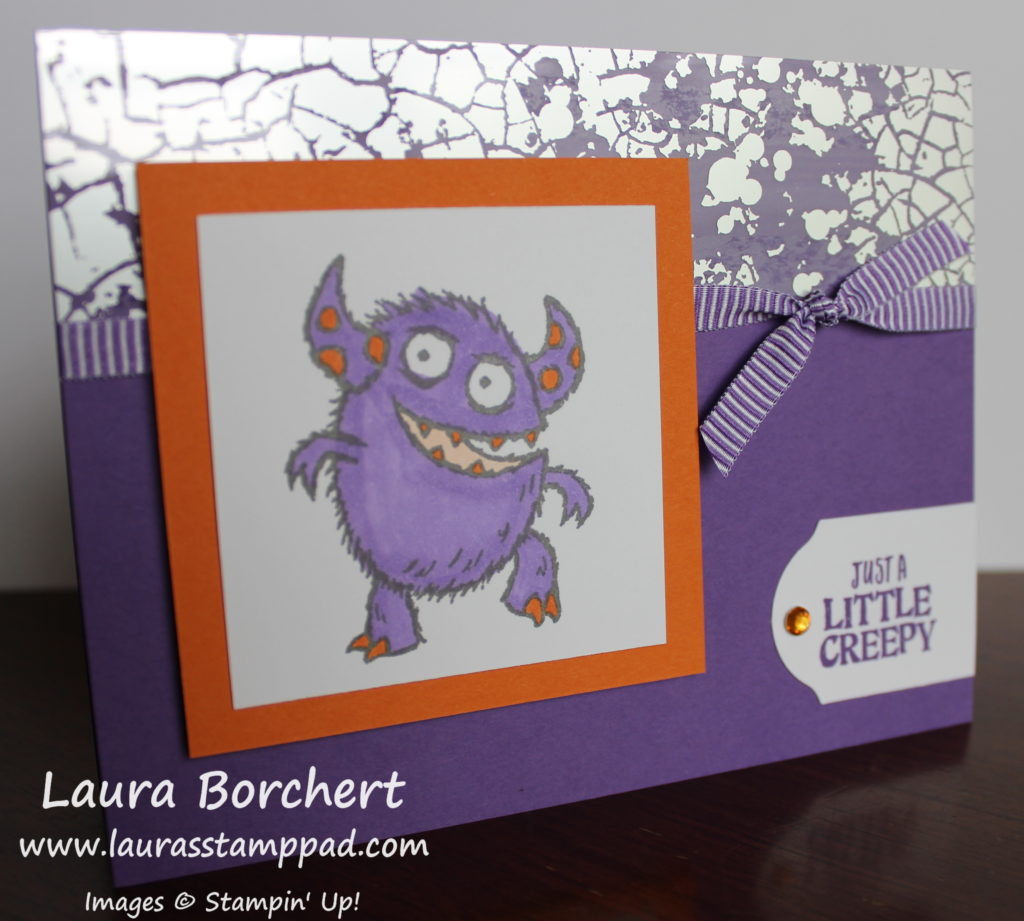 Purple Monster, www.LaurasStampPad.com