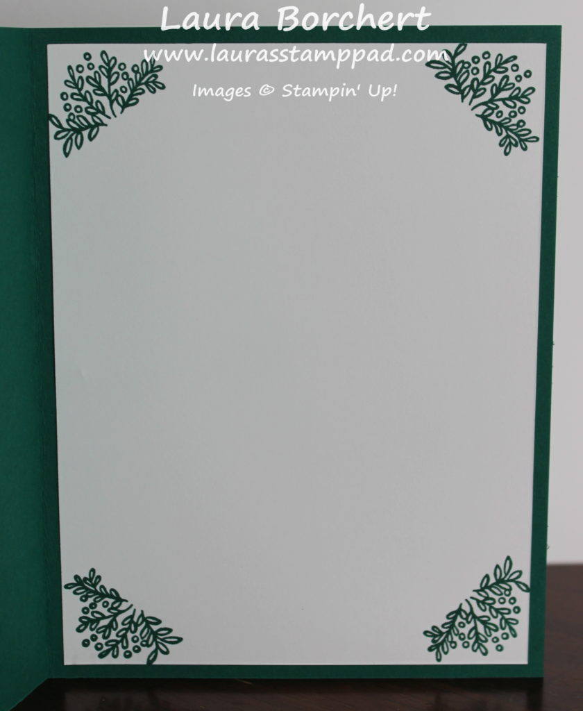 Cup of Christmas Card Insert, www.LaurasStampPad.com