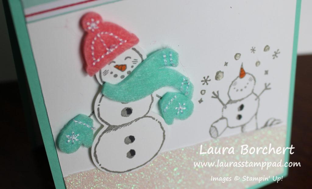 Snowman Season, www.LaurasStampPad.com