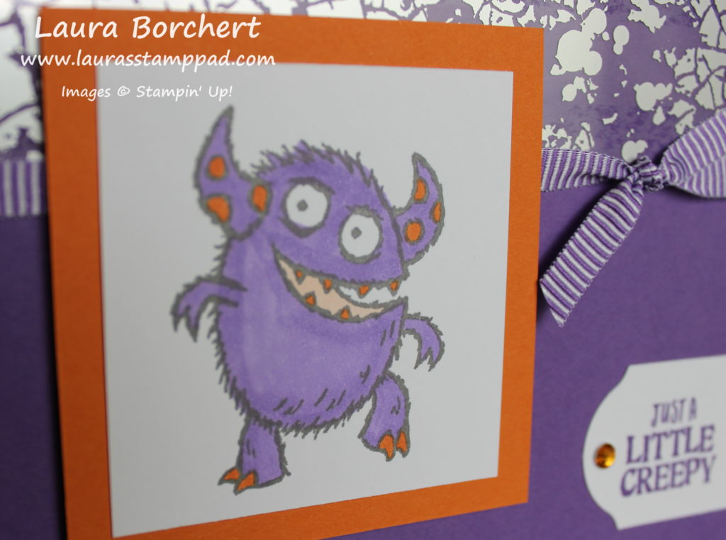 Monster Halloween Card, www.LaurasStampPad.com