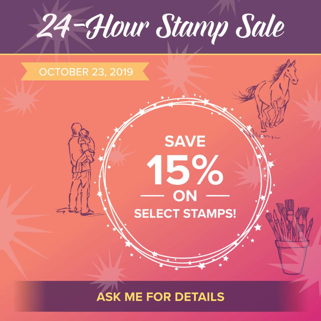 24 Hour Stamp Sale, www.LaurasStampPad.com