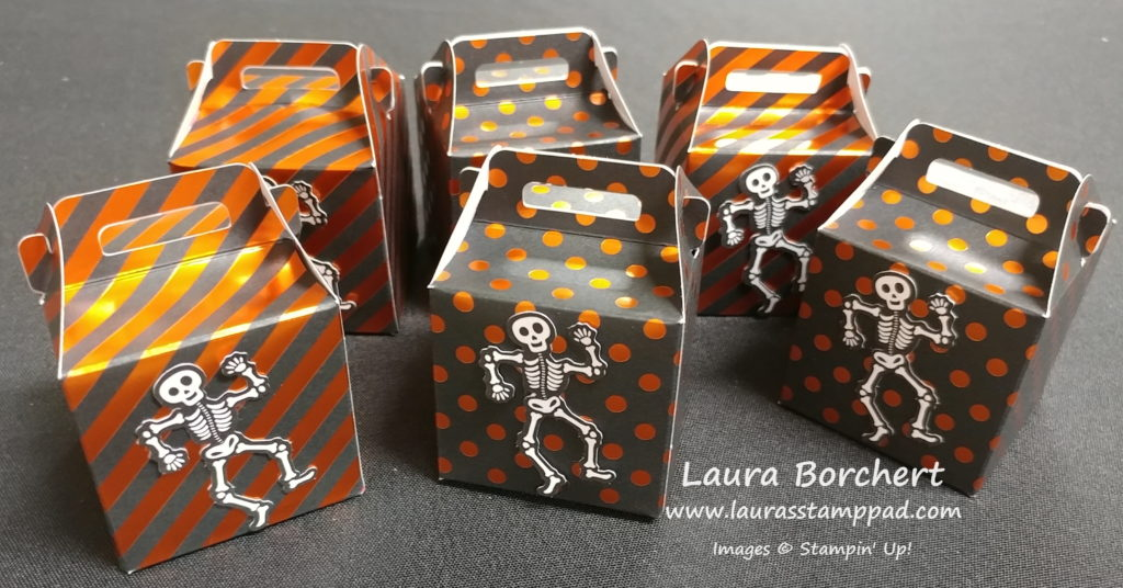 Skeleton Treat Boxes, www.LaurasStampPad.com