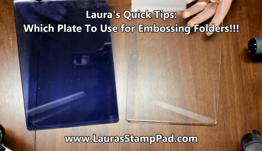 3D Embossing Folder Plate, www.LaurasStampPad.com