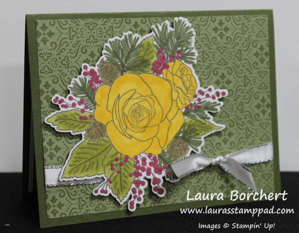 Christmas Roses, www.LaurasStampPad.com