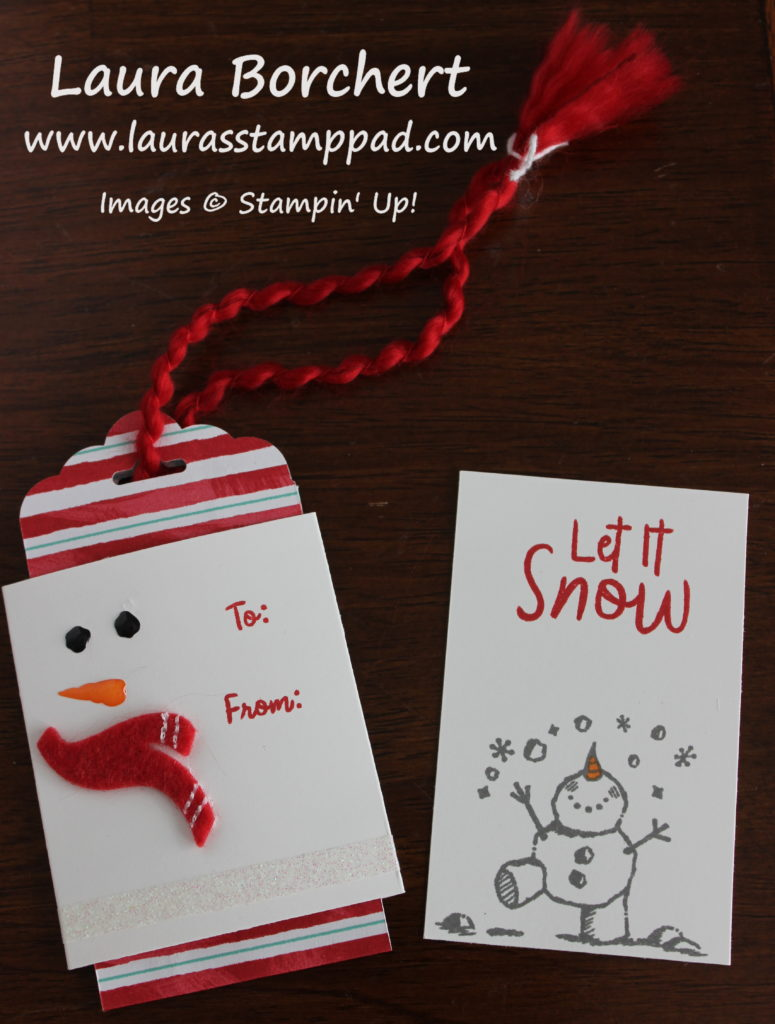 Snowman Gift Card Holder, www.LaurasStampPad.com