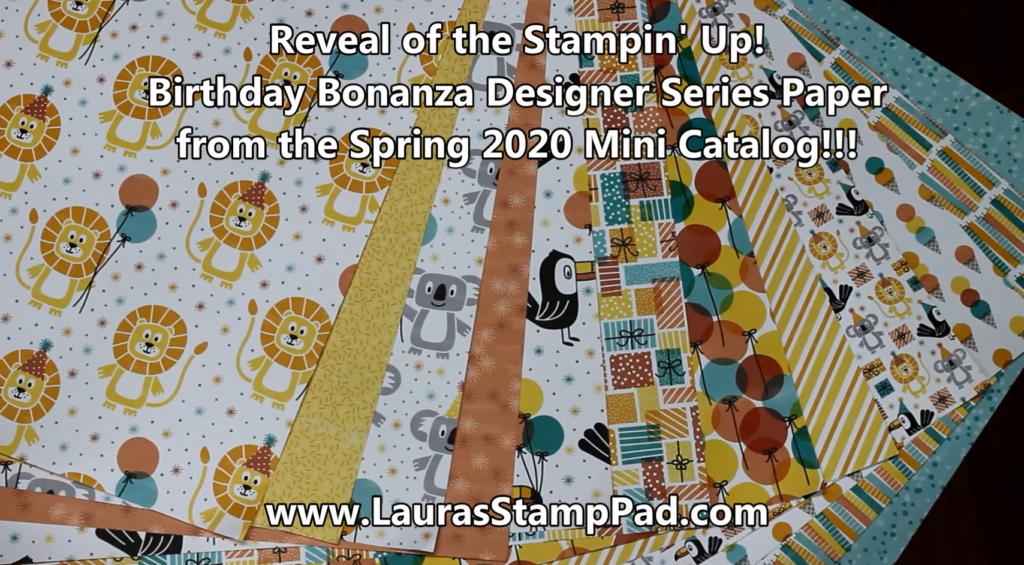 Birthday Bonanza, www. LaurasStampPad.com
