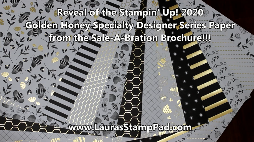 Golden Honey Designer Paper, www.LaurasStampPad.com