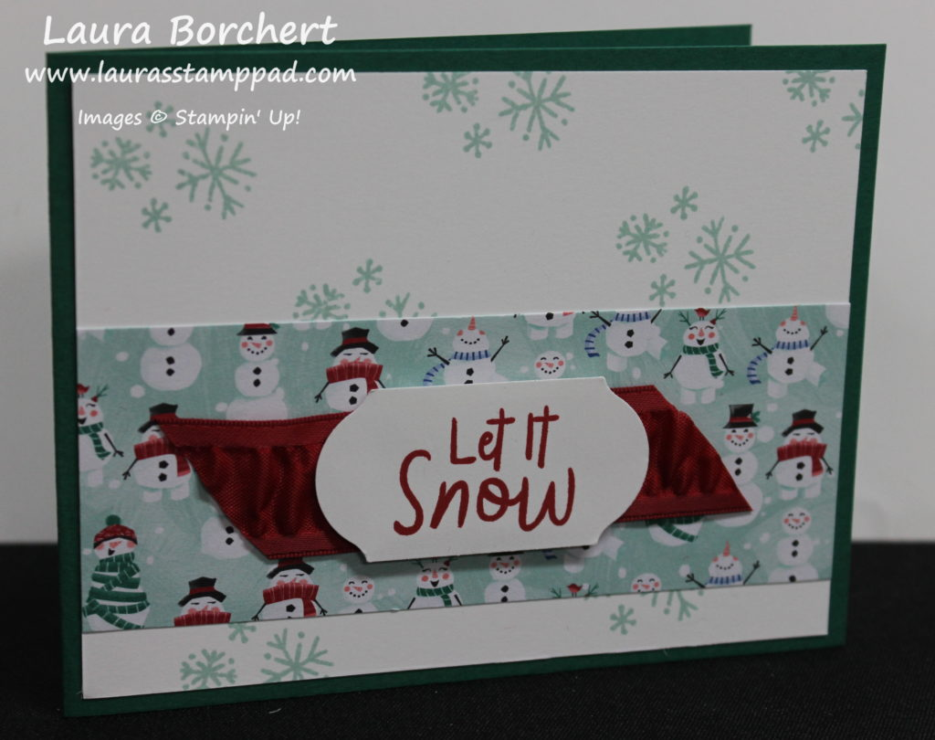 It Snowed, www.LaurasStampPad.com