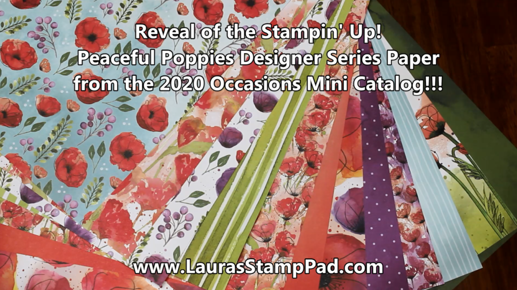 Peaceful Poppies, www.LaurasStampPad.com