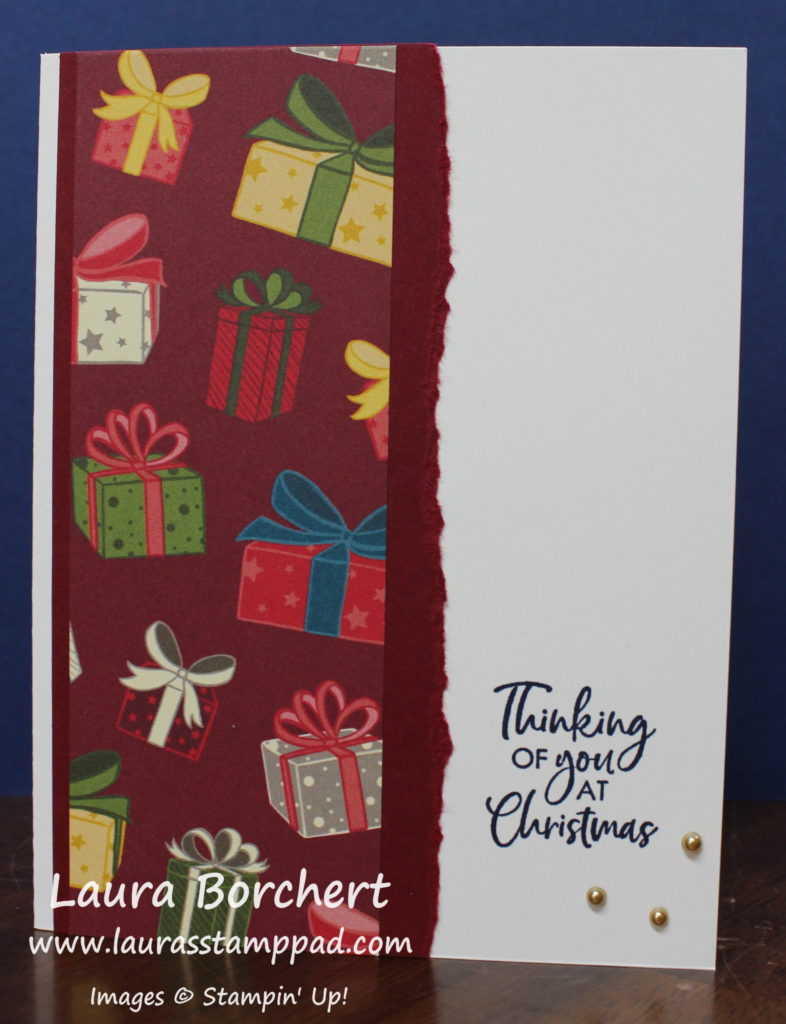 Thinking of You at Christmas, www.LaurasStampPad.com